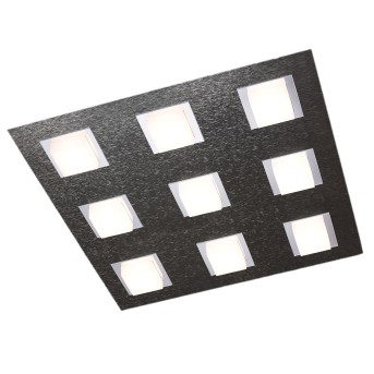 Grossmann BASIC Lámpara de Techo LED Antracita, 9 luces