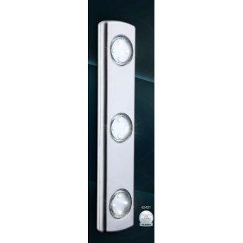 Globo SPOOKY Lámpara para armarios LED Plata, 3 luces