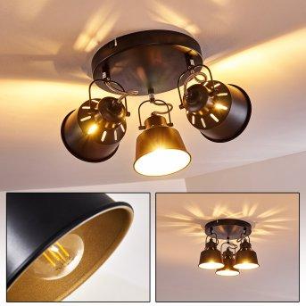 Lámpara de Techo Safari Negro, 3 luces