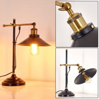 Gudem Lámpara de Mesa Negro-dorado, 1 luz
