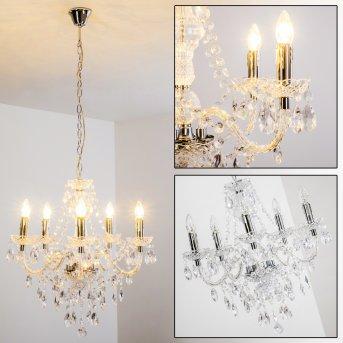Lámpara de araña Transparente, claro, 5 luces