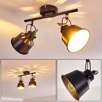 Safari Lámpara de Techo Negro, 2 luces