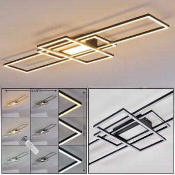 Alsterbro Lámpara de Techo LED Negro, 1 luz