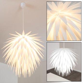 Grinder Lámpara Colgante Blanca, 1 luz