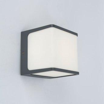 Lutec TELIN Aplique para exterior Antracita, 1 luz