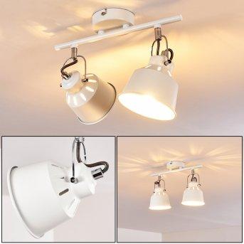 Lámpara de Techo Safari Blanca, 2 luces