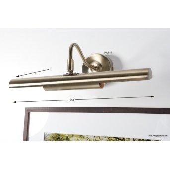 Globo PICTURE Lámpara para cuadro Latón antiguo, 2 luces