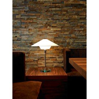 Tecnolumen Wagenfeld 28 Lámpara de mesa Níquel-mate, Transparente, claro, 1 luz