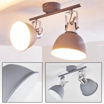 Dompierre Lámpara de Techo Gris, Blanca, 2 luces