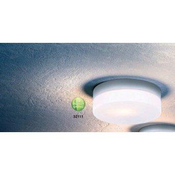 Globo VRANOS Lámpara de techo Plata, Acero inoxidable, Blanca, 1 luz
