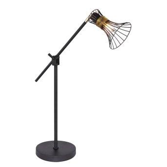 Lámpara de Mesa Globo PURRA Negro, 1 luz
