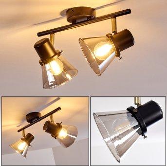 Lámpara de Techo Abel Negro-dorado, 2 luces