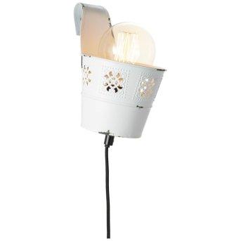 Brilliant Flower Ample Aplique Blanca, 1 luz