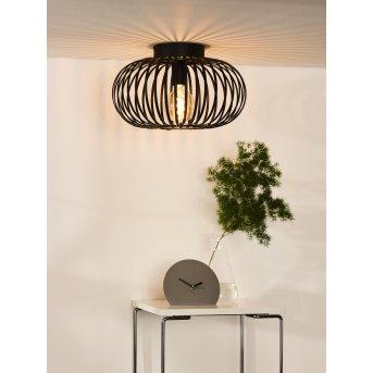 Lucide MANUELA Lámpara de Techo Negro, 1 luz
