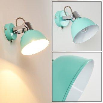 Borik Aplique Azul, Verde, 1 luz