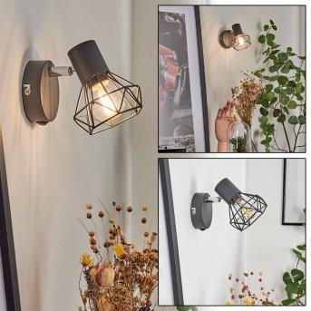 Gullspang Aplique Cromo, Antracita, 1 luz