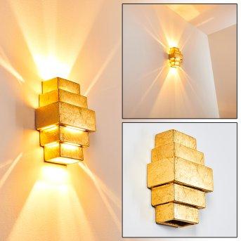 Tokia Aplique dorado, 2 luces