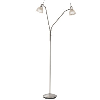 Nino Leuchten DAYTONA Lámpara de Pie LED Níquel-mate, 2 luces