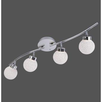 Leuchten Direkt MIKO Lámpara de Techo LED Cromo, 4 luces, Mando a distancia, Cambia de color