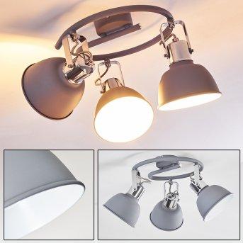 Dompierre Lámpara de Techo Gris, Blanca, 3 luces