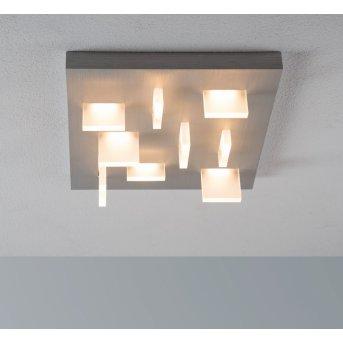 Escale Sharp Lámpara de Techo LED Níquel-mate, 9 luces