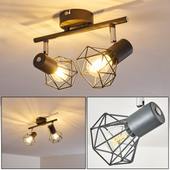 Gullspang Lámpara de Techo Antracita, 2 luces