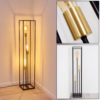Ibusuki Lámpara de Pie Negro, dorado, 3 luces