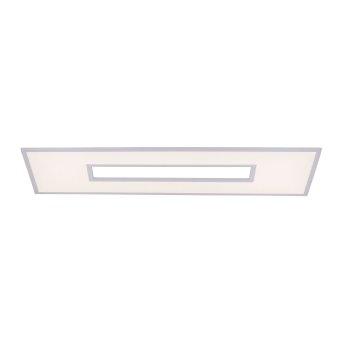 Leuchten-Direkt RECESS Lámpara de Techo LED Blanca, 2 luces, Mando a distancia, Cambia de color