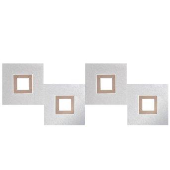 Grossmann KARREE Lámpara de Techo LED Aluminio, Cobre, 4 luces