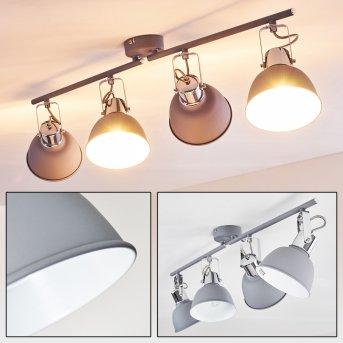 Dompierre Lámpara de Techo Gris, Blanca, 4 luces