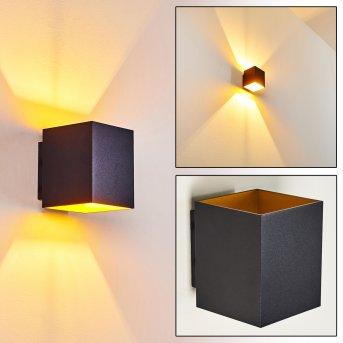 Laforsen Aplique Negro, dorado, 1 luz