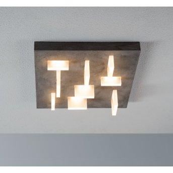 Escale Sharp Lámpara de Techo LED Gris, 9 luces