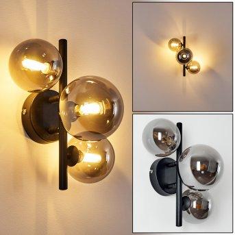 Chariton Aplique LED Negro, 3 luces