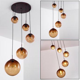 Lámpara Colgante Degevos Marrón, 5 luces
