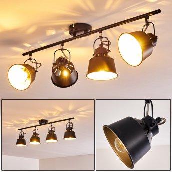 Safari Lámpara de Techo Negro, 4 luces