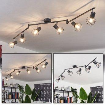 Gullspang Lámpara de Techo Antracita, 6 luces