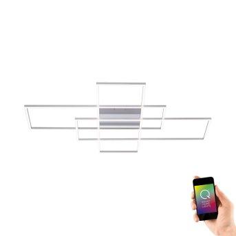Paul Neuhaus Q-INIGO Lámpara de Techo LED Níquel-mate, 3 luces, Mando a distancia