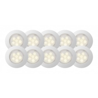 Brilliant Cosa 45 Focos empotrables LED Acero inoxidable, 10 luces