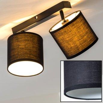 Brilliant Sandra Lámpara de techo Negro, 2 luces