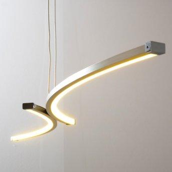 Glenwood Lámpara colgante LED Níquel-mate, Cromo, 2 luces