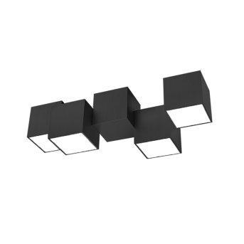 Grossmann ROCKS Lámpara de Techo LED Negro, 4 luces