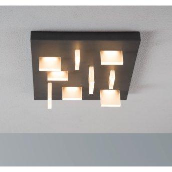 Escale Sharp Lámpara de Techo LED Antracita, 9 luces