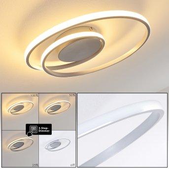 Leksund Lámpara de Techo LED Plata, 1 luz