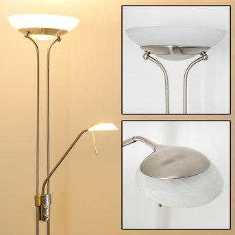 Biot Lámpara de pie LED Níquel-mate, 2 luces