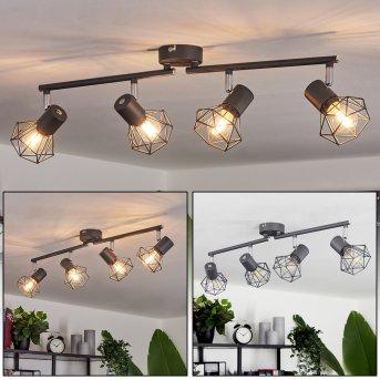 Gullspang Lámpara de Techo Antracita, 4 luces