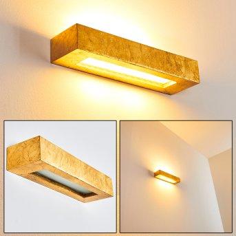 Paglia Aplique dorado, 2 luces
