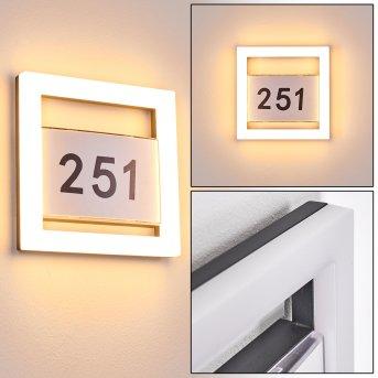 Linna Número de casa iluminado LED Blanca, 1 luz