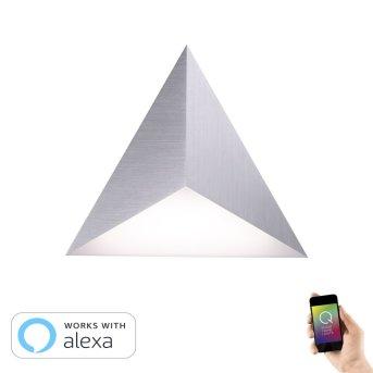 Paul Neuhaus Neuhaus Q-TETRA MASTER Aplique LED Níquel-mate, 1 luz, Mando a distancia, Cambia de color