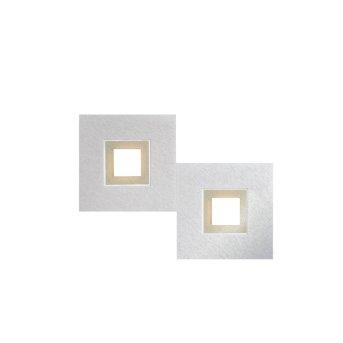Grossmann KARREE Lámpara de Techo LED Aluminio, champán, 2 luces