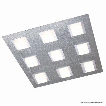 Grossmann BASIC Lámpara de Techo LED Aluminio, 9 luces